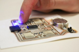 3D printed Circuit on paper