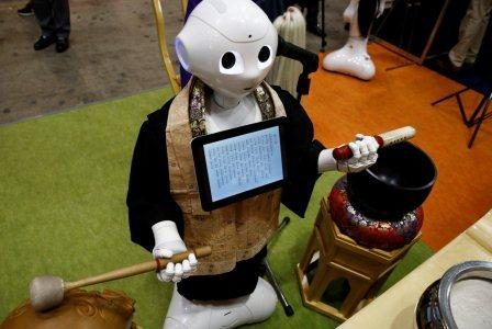 Softbank Pepper Robot programmed to Perform Buddhist Funeral Rites